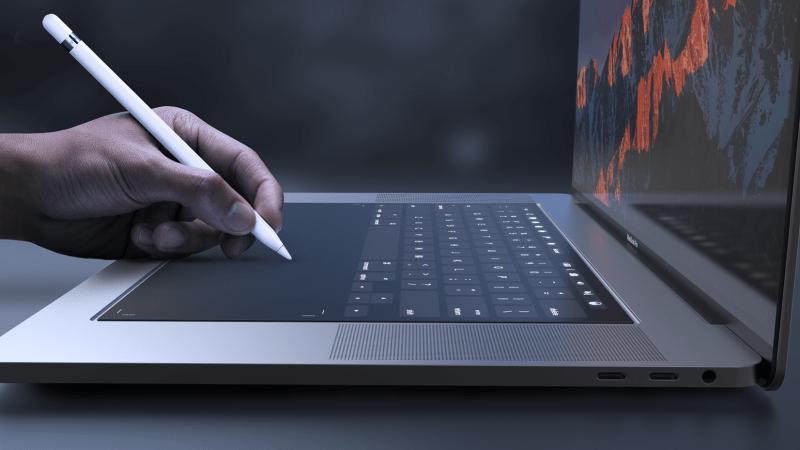 Mời xem Ý tưởng thiết kế MacBook Pro 2018 với Touch Bar cỡ lớn