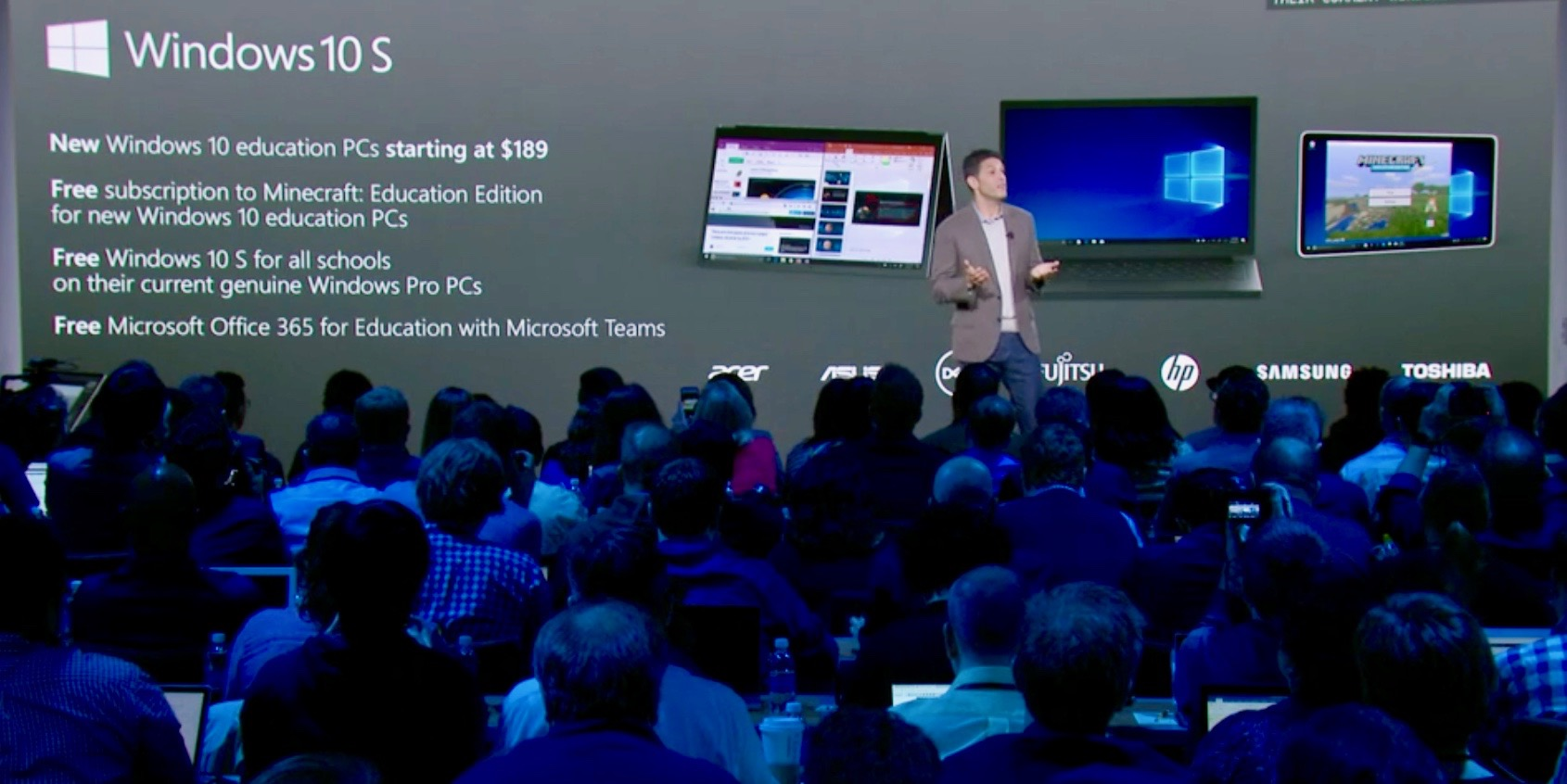 Microsoft ra mắt Windows 10 S và máy tính Surface Laptop cho sinh viên, học sinh