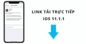 (Download) Link tải trực tiếp IPSW iOS 11.1.1 cho iPhone, iPad, iPod touch