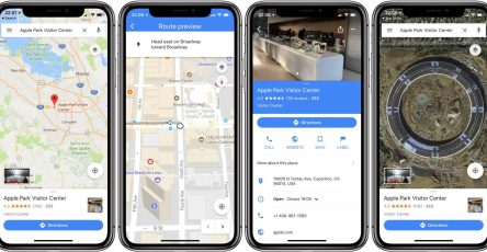 Google Maps iPhone X
