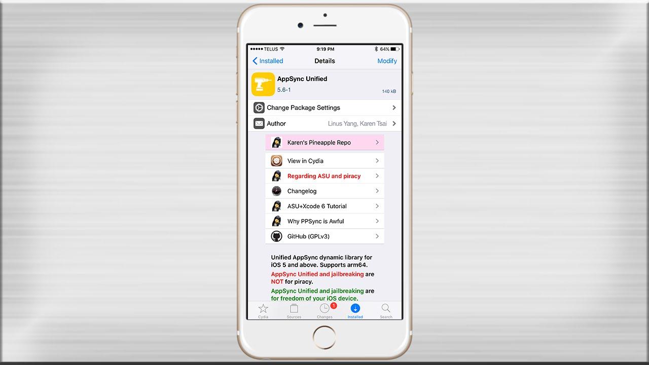Đã có AppSync Unified 30 cho iOS 11 jailbreak