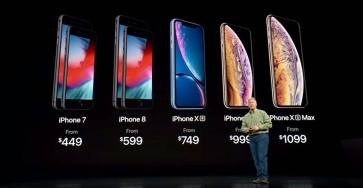 Bảng giá iPhone Xr, iPhone Xs, iPhone X Max