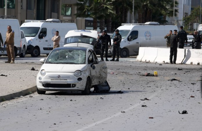 A suicide bombing near the American embassy in Tunis