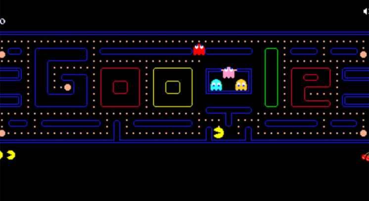 الألعاب في شعارات google المبتكرة الرائجة 2020.