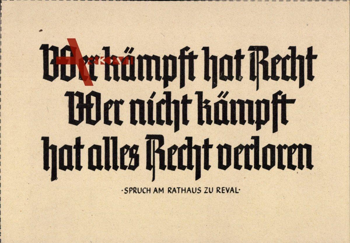 Soldatenblätter für Feier und Freizeit, Wer kämpf hat Recht, wer nicht  kämpft | xl