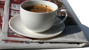 coffe with your newspaper