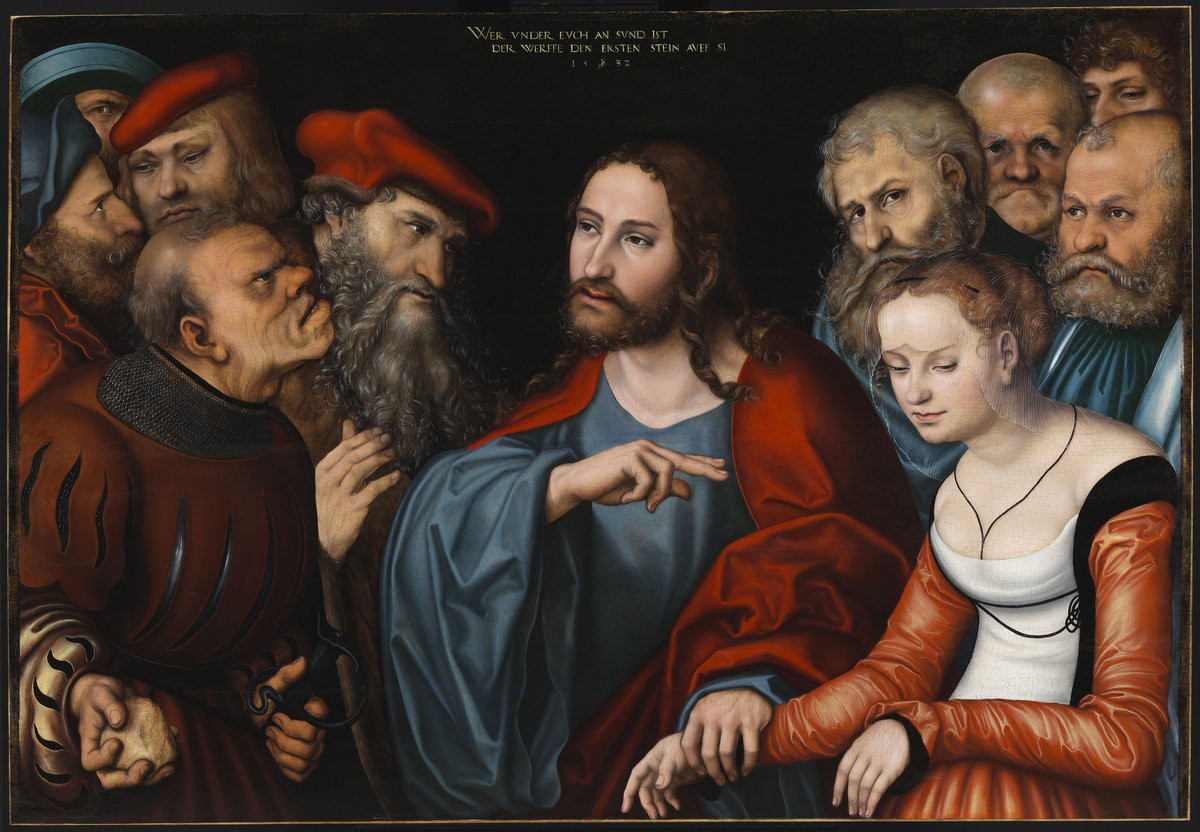 Lucas Cranach the Elder: Jesus and the Adulteress