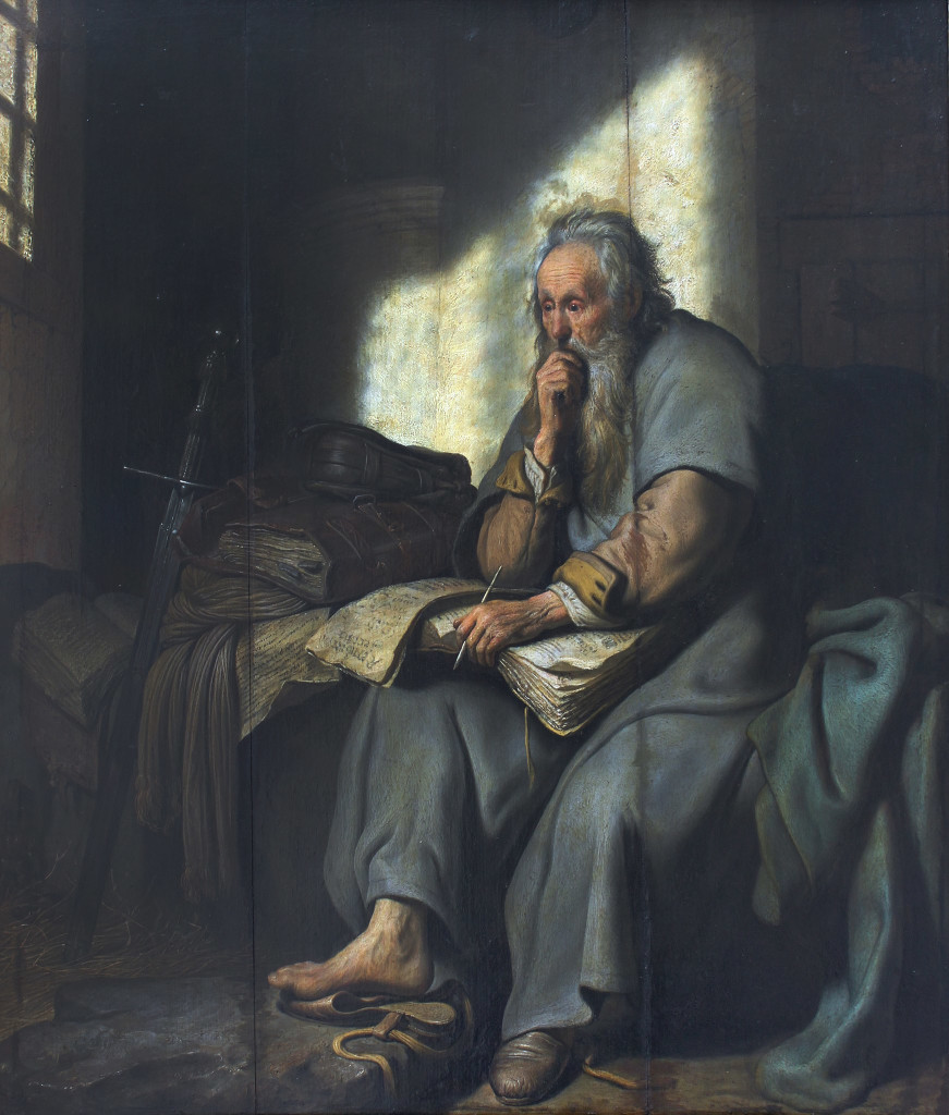 Paulus i fängelse, av Rembrandt