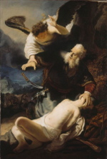 The Angel Prevents the Sacrifice of Isaac (1636)