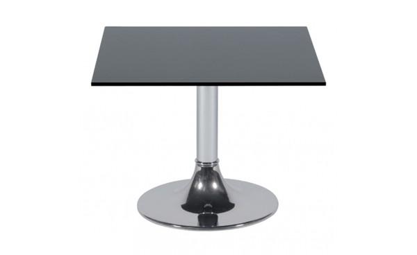 Location Table Basse KUADRA 60x60 Plateau Verre Noir Et