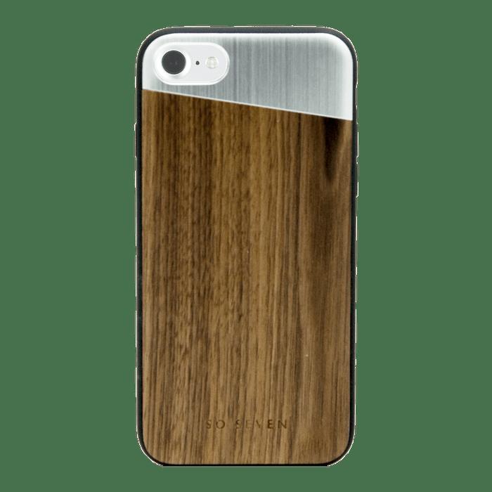 so seven coque sulfurous bois metal argent apple iphone se 8 7 6s 6 sur https www ascendeo fr