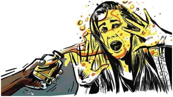Image result for acid attack cartoon