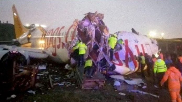 Plane Breaks Apart In A Turkish Field, Injuring Nearly 179