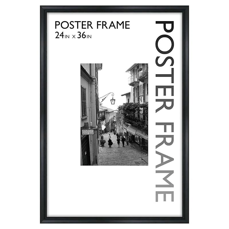 24x36 black sleek line poster frame