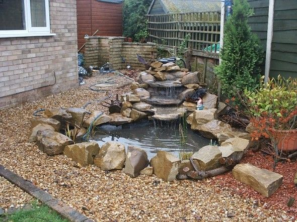 Backyard Ponds: A Do-It-Yourself Guide on Small Backyard Pond With Waterfall  id=63848