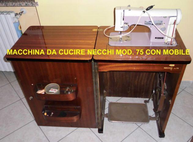 Macchina Da Cucire Necchi Mod 75 Con Mobile