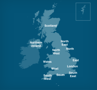 BBC Weather   Tide Tables Map of UK tidal regions