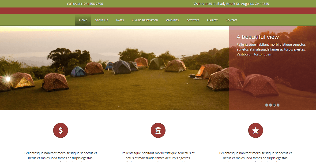camping wordpress theme
