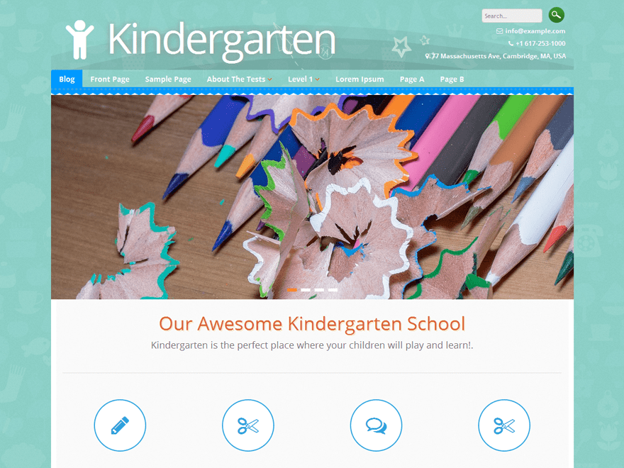 Kindergarten WordPress theme free