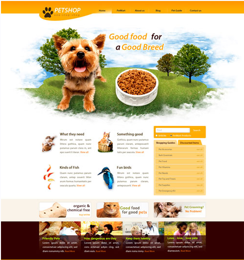 15 pet shop website templates free download and use