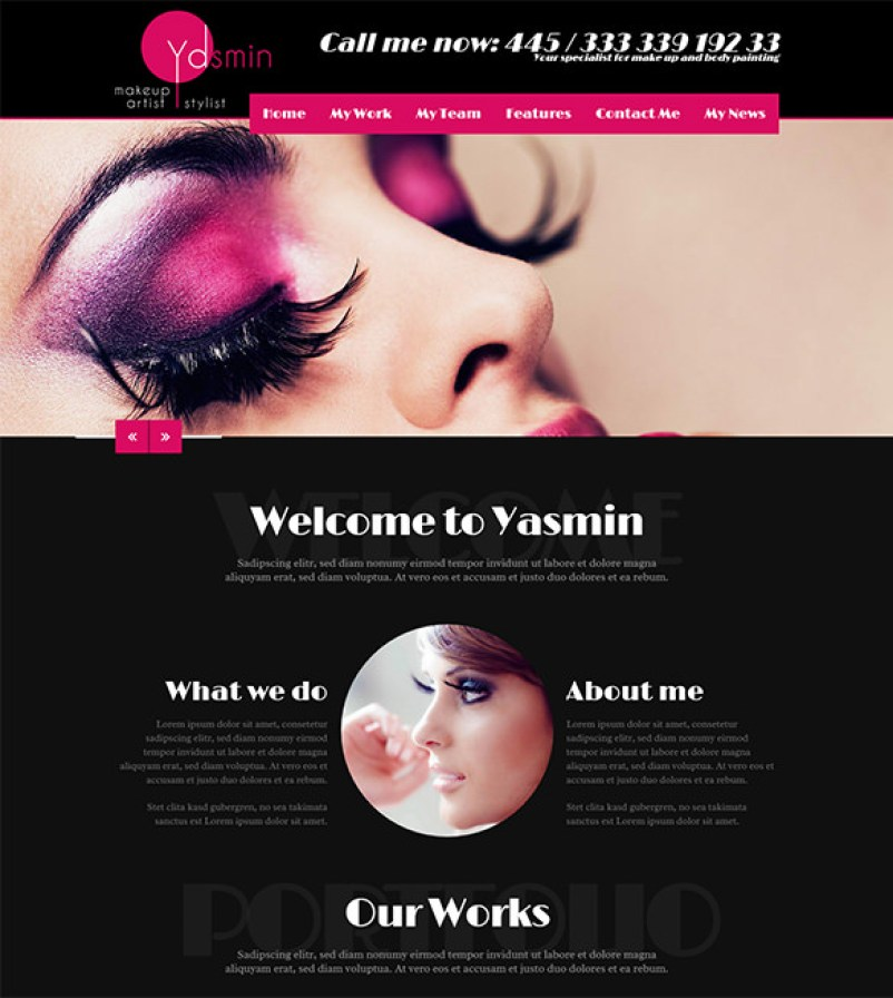 4 Trending Makeup Artist Website Template 2017 BeauPress