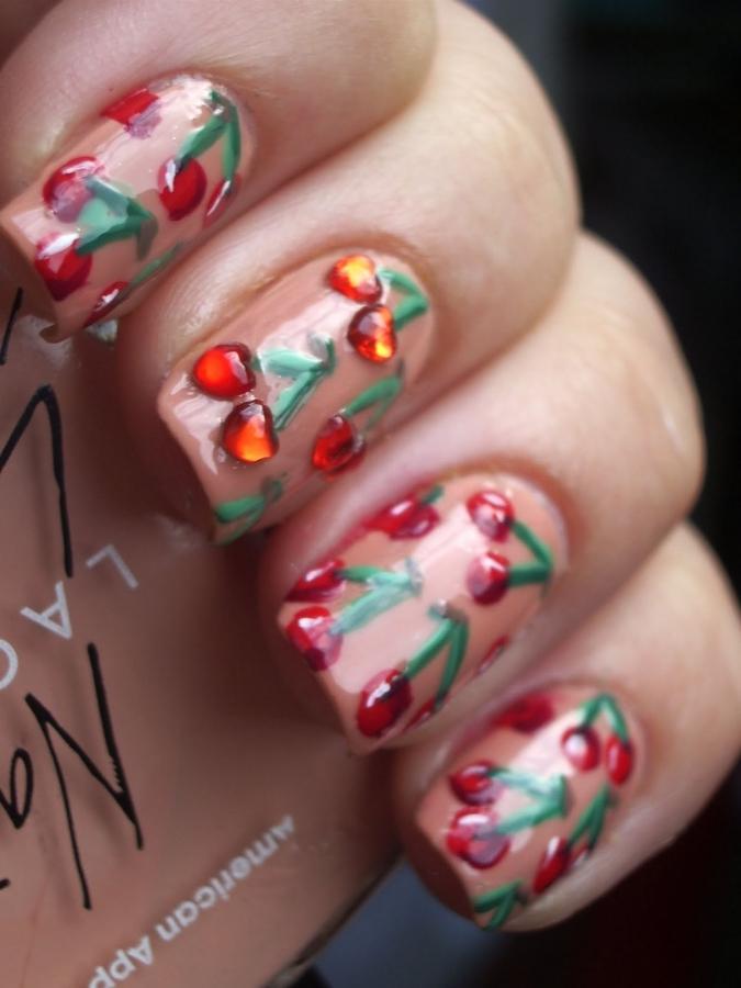 O Kitty Nail Art Cherry