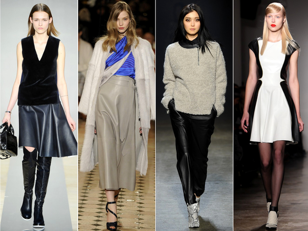 Leather Runway Fashion Trend