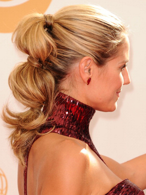 Heidi Klum Three Knot Ponytail