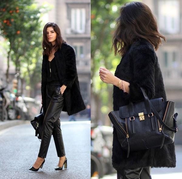 Jogger Pants With Fur Coat