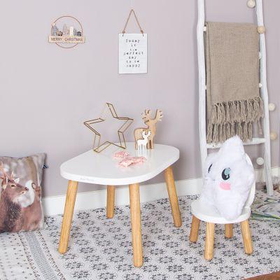 lot de 2 petites chaises ovaline blanches