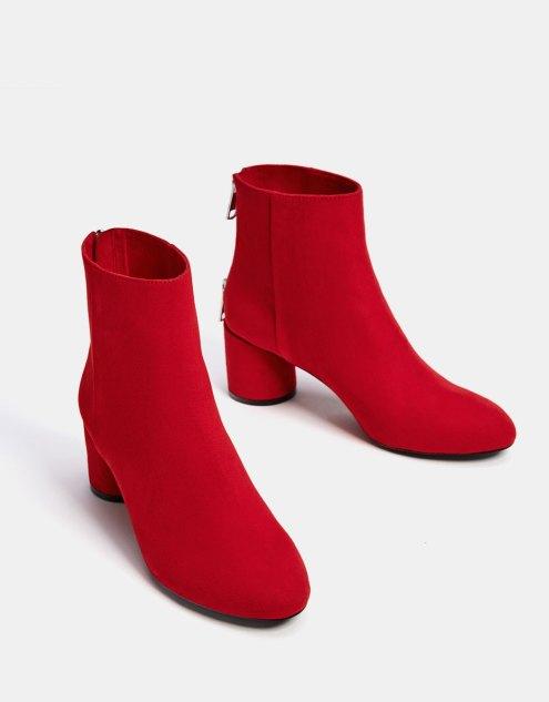 botines rojos calcetín terciopelo ante baratos low cost bonitos económicos black friday