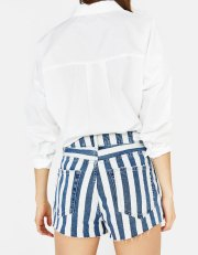 Short jean à rayures