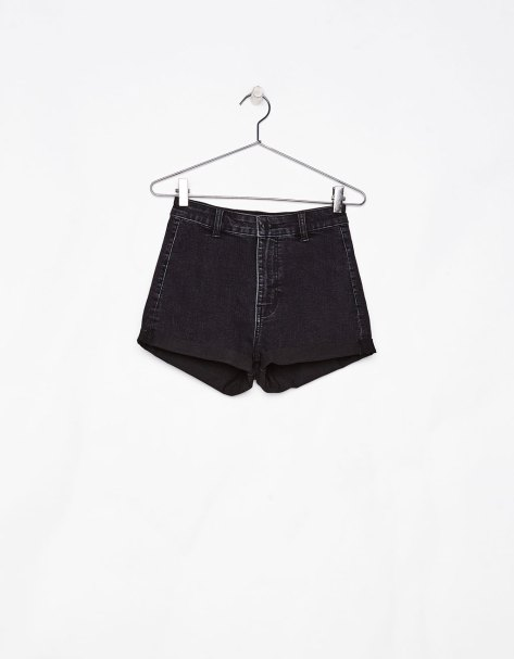 Short denim High Waist con vuelta