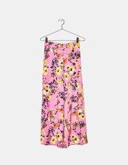 Jupe-culotte large à fleurs avec boutons