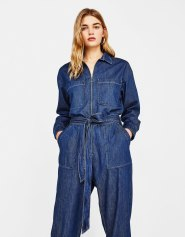 Combinaison jean zippée