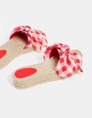 Sandales plateforme jute nœud