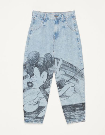"""Jeans Balloon Fit """"Mickey gets arty"""""""