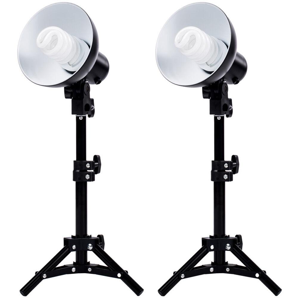 fovitec 2 light product photography fluorescent lighting kit