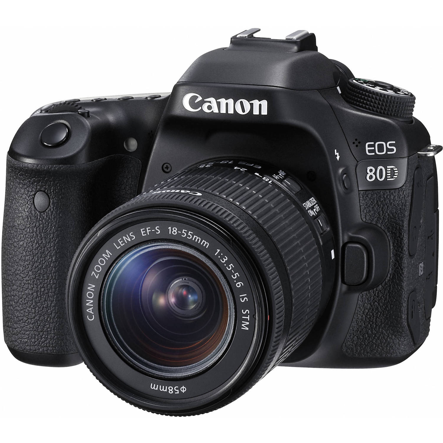 Canon Eos 80D Dslr Camera With 18-55Mm Lens 1263C005 B&Amp;H Photo