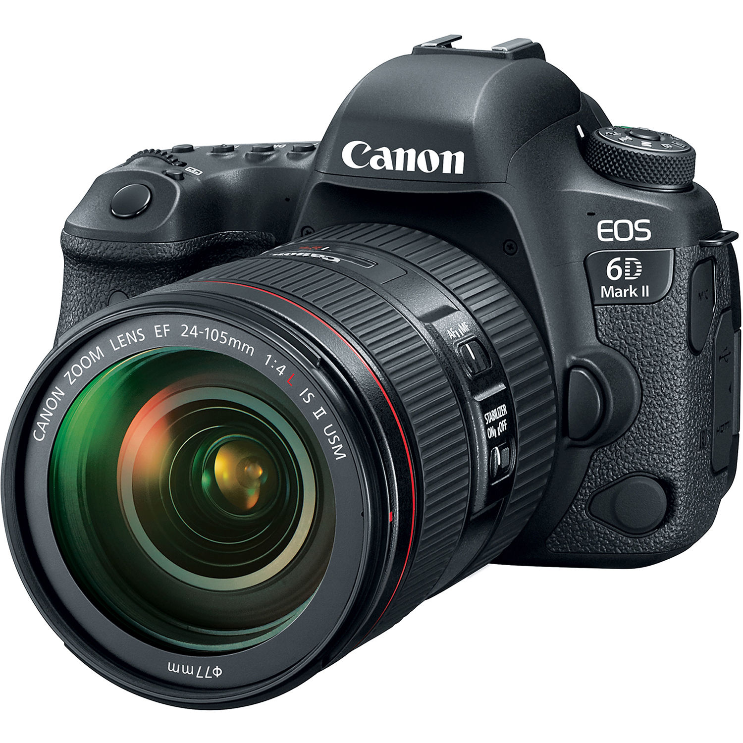 Canon EOS 6D Mark II DSLR Camera with 24-105mm f/4L II 1897C009
