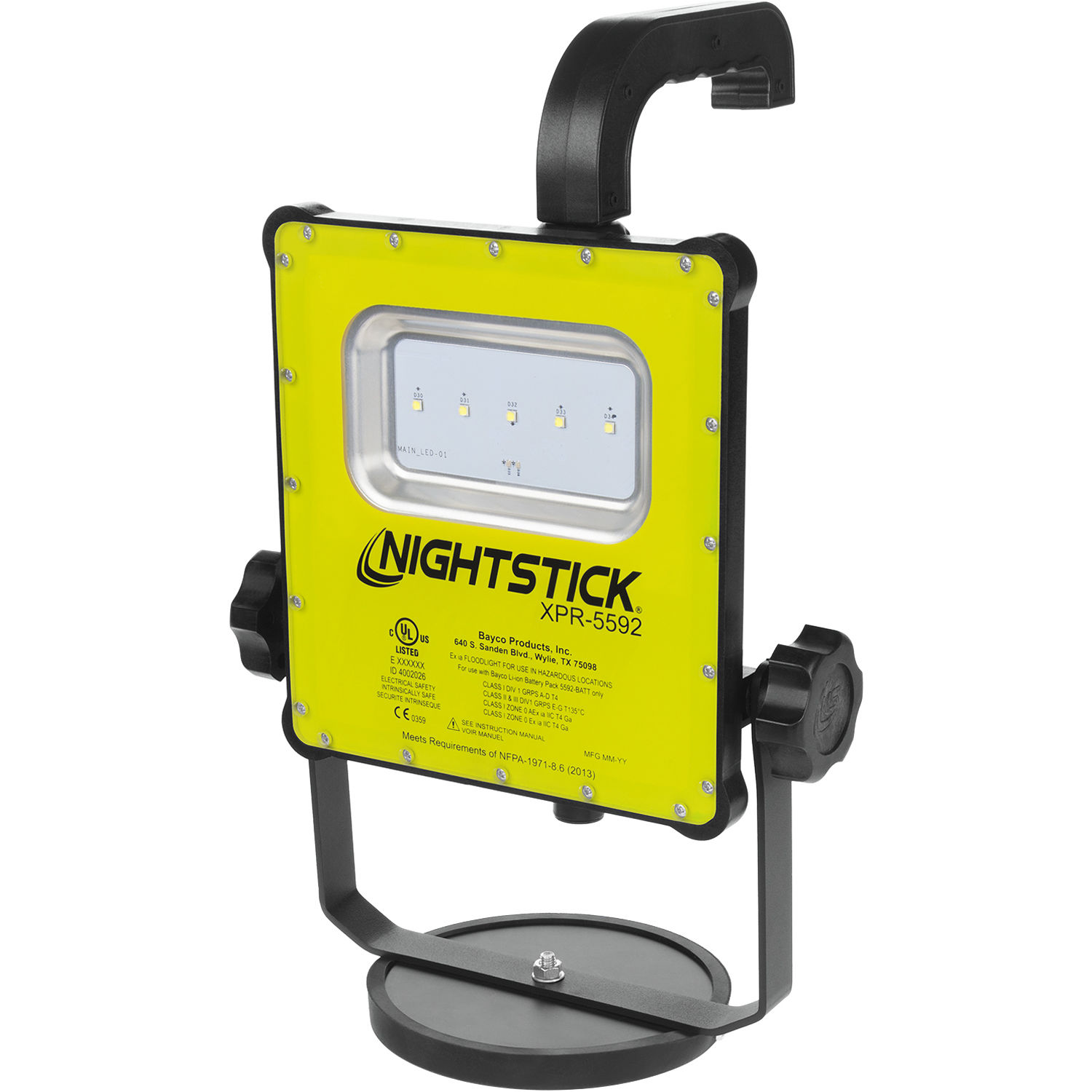 nightstick xpr 5592gx intrinsically safe rechargeable led area light green