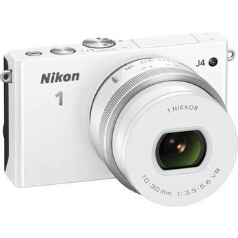 Nikon 1 J4 Mirrorless Digital Camera with 10-30mm Lens (White)