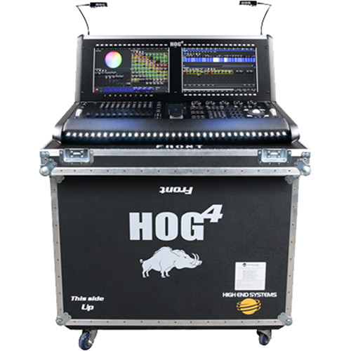elation professional hog 4 lighting console with dp8000 dmx processor in road case