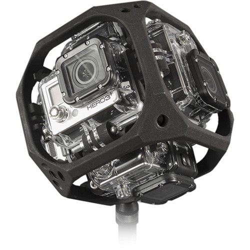 360-video camera rig for GoPro Hero 4