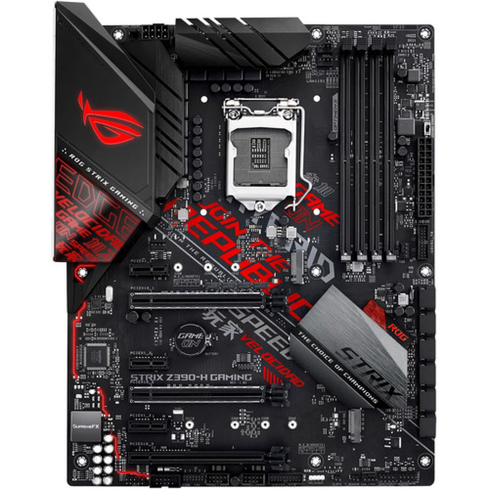 ASUS Republic of Gamers Strix Z390-H LGA 1151 ATX Gaming Motherboard