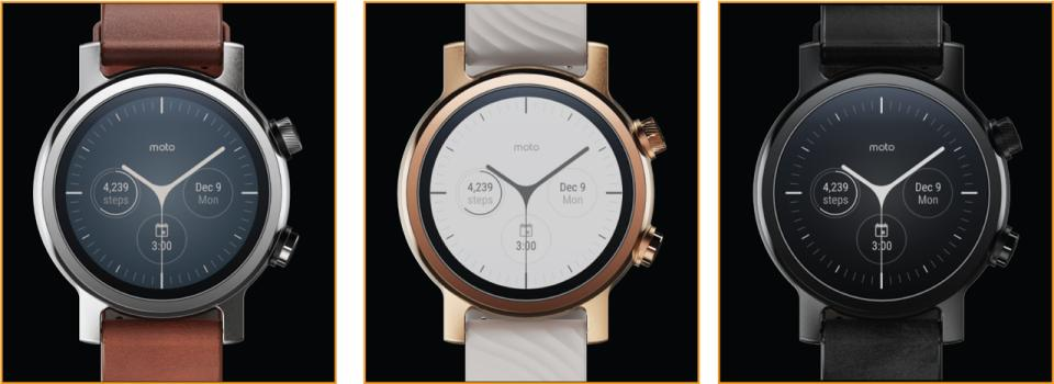 Moto 360 Smartwatches for iOS and Android