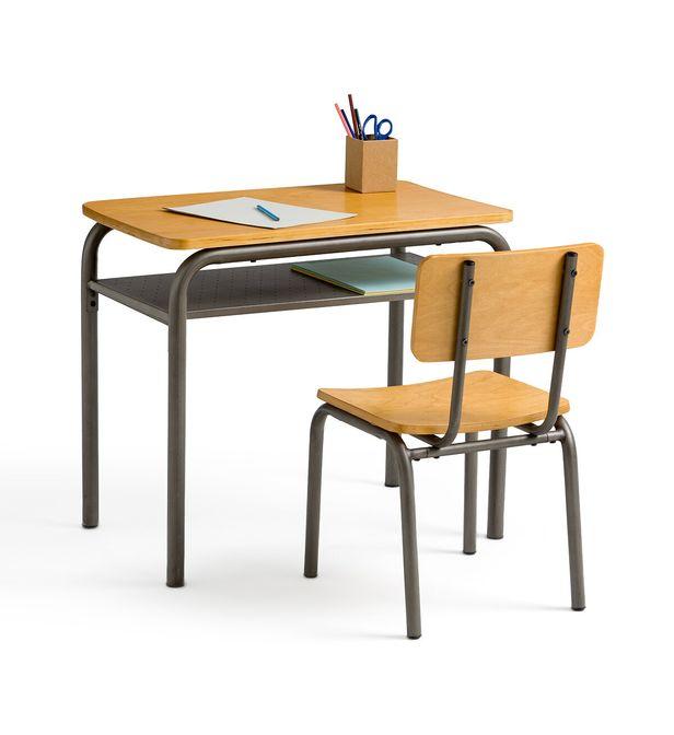 bureau et chaise d ecolier vintage