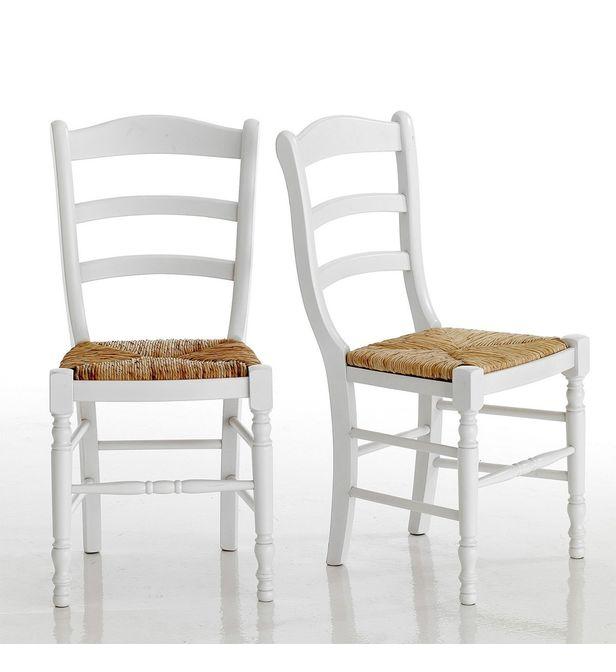 lot de 2 chaises hetre massif
