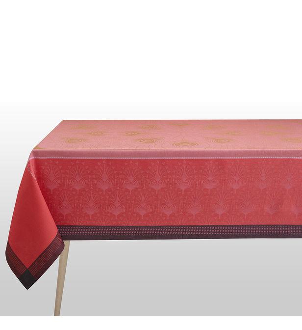 nappe cabaret flamingo 100 lin le jacquard francais rose soldes bhv marais