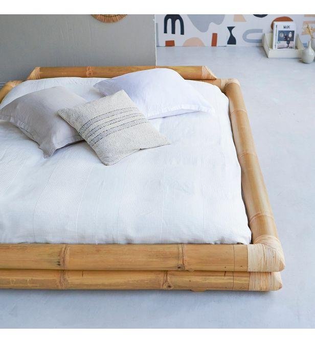 lit futon en tige bambou 160x200 balyss